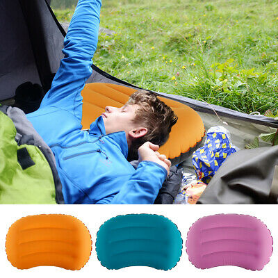 AU14.99 • Buy Inflatable Camping Pillow Ultralight For Travel Sleeping Hiking Backpacking HOT