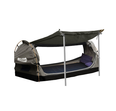 AU168 • Buy New Mountview King Single Camping Swags Canvas Dome Tent Free Standing - Grey