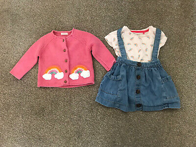 £3.20 • Buy Baby Girl Next Rainbow Outfit (6-9 Months)