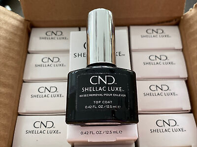 £4.99 • Buy 1 CND SHELLAC LUXE™️ UV Nail Polish 60 Seconds Quick Removal  Top Coat - 12.5ml