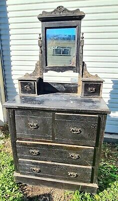 AU210 • Buy Dressing Table Duchess Antique With Swing Mirror And Decorative Timber