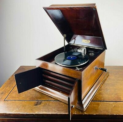 £40 • Buy Antique Vintage Table Top Gramophone Record Player 78rpm By Regal 1930s