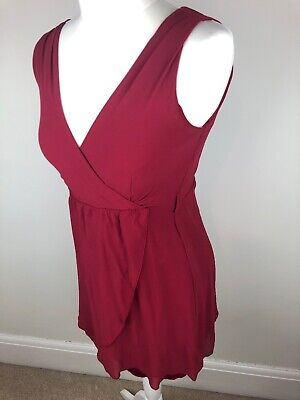 £7 • Buy Wal G From Topshop Wine Red Lined Wrap Style Dress In Size Small 8 10