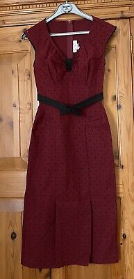 £10 • Buy Stop Staring 50s Style Wiggle/party Dress Sz Small