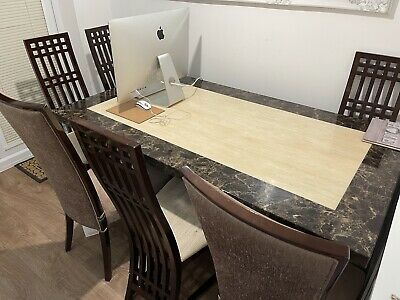 £500 • Buy Marble Dining Table And 6 Chairs Used