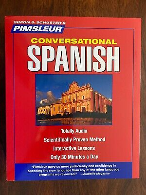 £28.97 • Buy Simon Schuster Pimsleur Spanish Means Language Lessons , 8 CD's