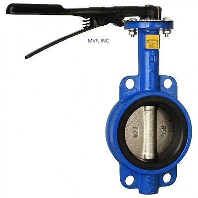 $145.85 • Buy Butterfly Valve 6  Wafer Style 200 Wog Ductile Body Bronze Disc Buna Rubber