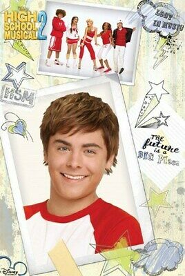 HIGH SCHOOL MUSICAL POSTER Zac Efron Troy NEW 1218 - 1 • 2.99£