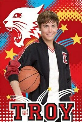 HIGH SCHOOL MUSICAL POSTER Zac Efron Troy NEW 1218 - 2 • 2.99£