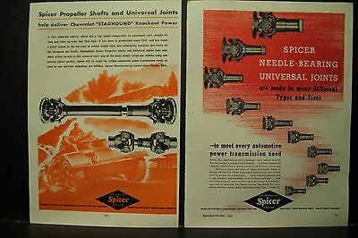 £18.14 • Buy SPICER PROPELLER SHAFTS Universal STAGHOUND HOBART RADIO 1945 Military WWII ADs