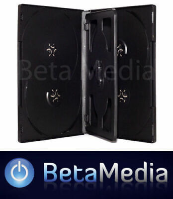AU12.95 • Buy 3 X Black 14mm ** HOLDS 6 Discs ** Quality CD / DVD Cover Cases