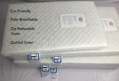 £21.29 • Buy QUILTED COVER MATTRESS FOR MAMAS & PAPAS 200 COT Fully Breathable 120 X 60 X 10