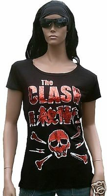 £37.97 • Buy Amplified Official THE CLASH SKULL Foil Print Rock Star ViP Rare T-Shirt G.S