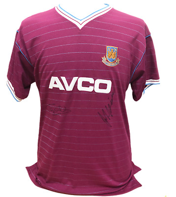 £95 • Buy McAVENNIE & COTTEE DUAL SIGNED WEST HAM UNITED FOOTBALL SHIRT SEE PROOF + COA