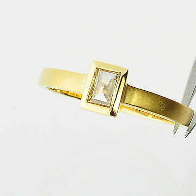 $795 • Buy 18k Solid Gold Rio Tinto Colored Diamond Ring Size 6