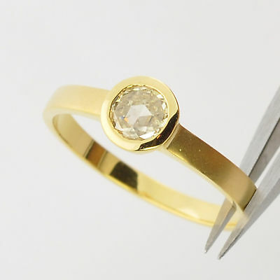 $595 • Buy 18k Solid Gold Rio Tinto Colored Diamond Ring Size 6