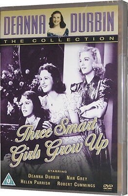 Deanna Durbin Three Smart Girls Grow Up DVD 1940s Film • 12.95£