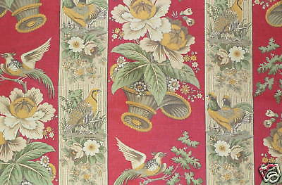 CLARENCE HOUSE La Basse Cour Red Floral Italy Linen New • 25.75£