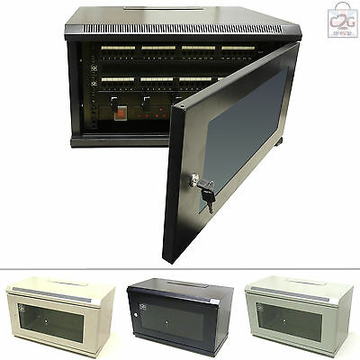 AU134.80 • Buy 6U Wall Cabinet Network Data Rack For Patch Panel & PDU Comms PDU Patch Panel