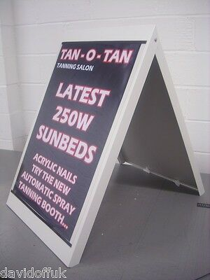 A Board Pavement Sign A1  Metal Frame Large Board Design New Pavement Board • 55£