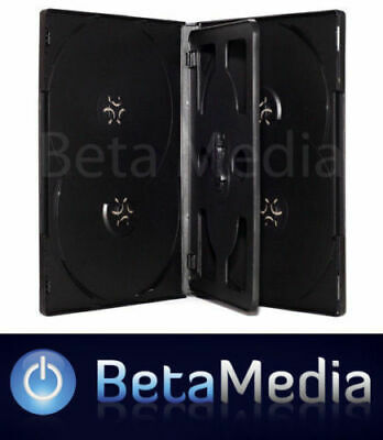 AU99.95 • Buy 100 X Black 14mm ** HOLDS 6 Discs ** Quality CD / DVD Cover Cases