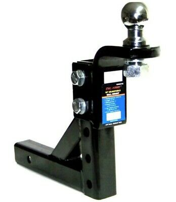 Adjustable Trailer 10  Drop Hitch Ball Mount 2  Receiver With 2-5/16  Hitch Ball • 39.99$