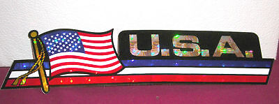 Usa Red White & Blue American Flag Car Bumper Sticker Buy 3 Get 1 Free • 2.25£