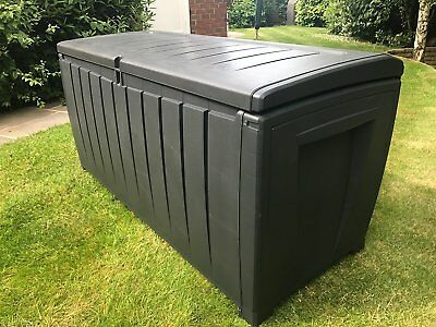 £74.95 • Buy Keter Novel Garden Waterproof Storage Box With Sit On Lid XL Size 340 Ltr