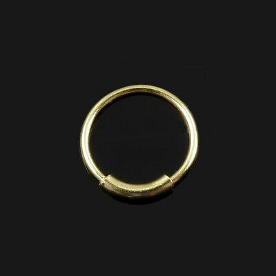 AU4.20 • Buy 1 Gold Plated Nose Hoop Rings Endless 22g 7mm