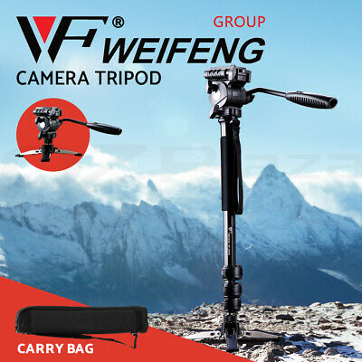 AU74.95 • Buy Weifeng Professional Camera Tripod Monopod Stand DSLR Ball Head Mount Flexible