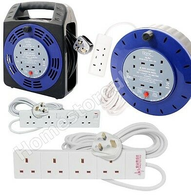 £29.99 • Buy 13 Amps Mains Extension Power Cable Lead Plug In Gang Way Socket Electrical Lead