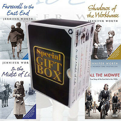 Jennifer Worth Call The Midwife 4 Books Gift Wrapped Slipcase Specially For You • 24.99£