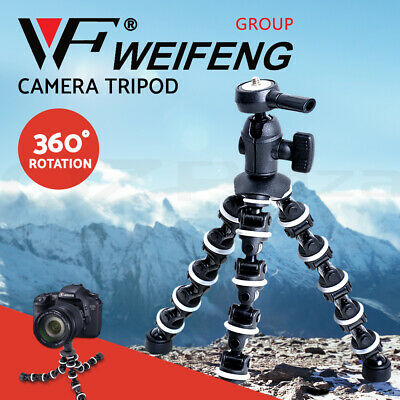 AU19.95 • Buy Weifeng Professional Camera Tripod Stand DSLR Ball Head Mount Flexible Universal