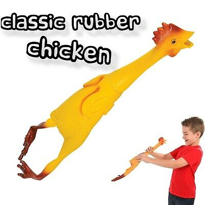 $8.88 • Buy 22  Large Rubber Chicken Bird Joke Prank Funny Chick Hen Party Gag Gift Dog Toy