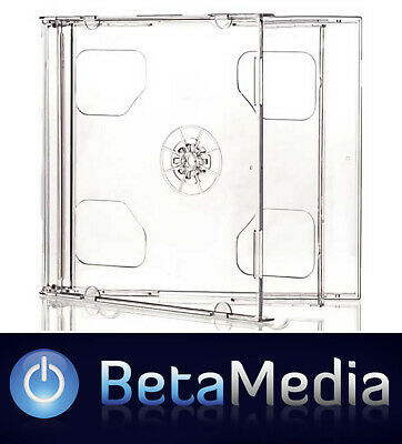 AU36.95 • Buy 50 X Double Jewel CD Cases With Clear Tray - Australian Standard Size Case
