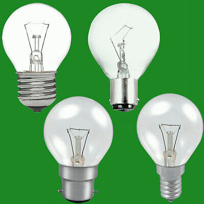 10x Clear Golf Round Dimmable Standard Light Bulb 25W 40W 60W BC ES SBC SES Lamp • 12.49£