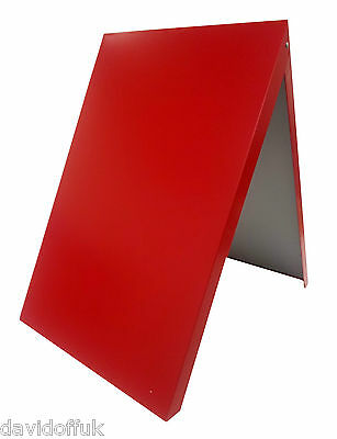 A-board Pavement Sign,advertising,menu,sandwich Board, Metal Frame, Red • 38£