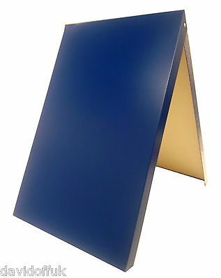 A-board Pavement Sign,advertising,menu,sandwich Board, Metal Frame, Blue • 38£