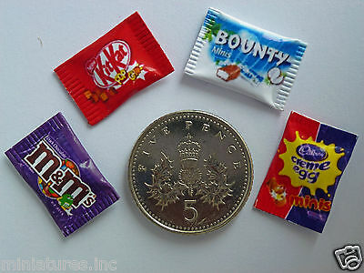 £2.50 • Buy DOLLS HOUSE MINIATURE SWEETS Bounty KitKat Creme Egg M&M's Handmade 1:12th Scale