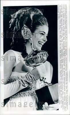 $20 • Buy 1968 Beautiful Miss Pixable Of Louisiana W Trophy Miss USA Pageant Press Photo