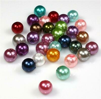 £1.99 • Buy 20 COLOUR CHOICE TOP QUALITY ACRYLIC FAUX ROUND PEARL BEADS 4mm 6mm 8mm 10mm 12m