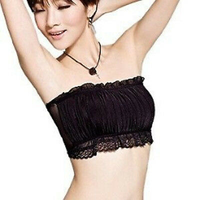£4.66 • Buy Women Lady Girl Lace Bra Top Tube Vest Chest Cover Wrap Bandeau Cami Camisole