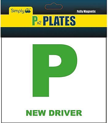 New Driver Car Magnetic Strip  P  Plates For Just Passed Car Drivers  • 2.99£