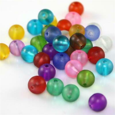 £2.39 • Buy CRYSTAL FROSTED GLASS BEADS ROUND 20 COLOUR CHOICE TOP QUALITY 4mm 6mm 8mm