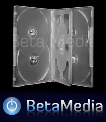 AU15.60 • Buy 5 X Clear 14mm ** HOLDS 6 Discs ** Quality CD / DVD Cover Cases