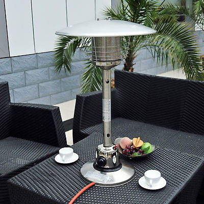 Table Top Gas Patio Heater Stainless Steel Outdoor Heating Heat • 61.99£