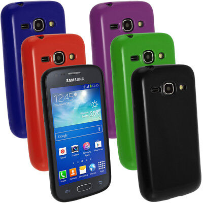 £2.19 • Buy Glossy TPU Gel Skin Case Cover Holder For Samsung Galaxy Ace 3 S7275 Screen Prot