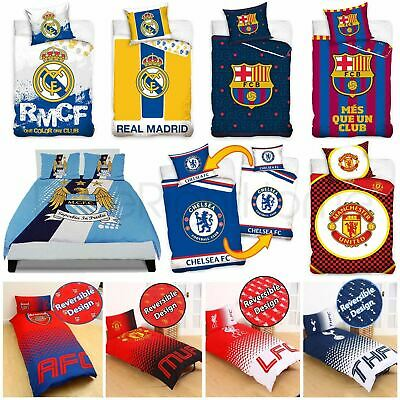 £19.90 • Buy Official Football Club Duvet Cover Sets - Chelsea Manchester Barcelona & More