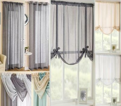 £9.64 • Buy GLITZ / GLITTER / SPARKLY VOILE CURTAIN PANELS / TIE BLINDS / SWAGS  MIX'n'MATCH