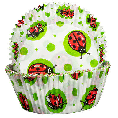 Lady Bird Cupcake Cases X60 Baking Muffin Cute Insect Pattern • 3.19£
